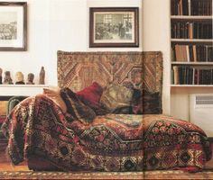 We'd love to have this daybed covered with this stunning Persian carpet