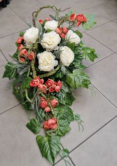 Grave Decorations, Funeral Flowers, Floral Wreath, Wreaths, Projects, Christmas, Wedding, Home Decor, Flower Arrangements