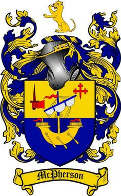 MCPHERSON FAMILY CREST - COAT OF ARMS gifts at www.4crests.com