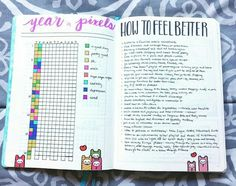 How to Use Your Bullet Journal Make a Bad Day Good. Alongside a yearly mood tracker in your journal can be a long list of strategies for feeling better. Super idea. More self care in your notebook.