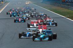 Michael y Ayrton Start Pacific 1994 Formula One, Race Cars, Racing, Mans, Michael Schumacher, Grand Prix, F1, Book, Ayrton Senna