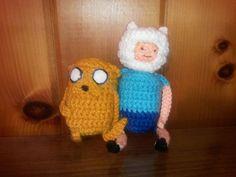 Finn and Jake Crochet Amigurumi  Adventure Time by BeautyInTheGeek, $19.99