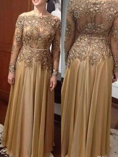 Long Sleeves Sweep Train Mother Of The Bride Dresses With Appliques on Luulla Long Mothers Dress, Mother Of The Bride Dresses Long, Mother Of Bride Outfits, Mothers Dresses, Hijab Evening Dress, Hijab Dress Party, Evening Gowns With Sleeves, Evening Dresses Plus Size, Morrocan Dress