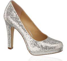 Glitter pumps - silver