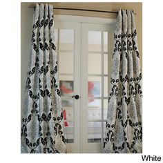 """Arabella 96""""L Flocked Curtain Panel 