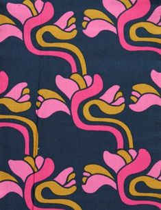 Printed textile by Juhani Konttinen for Porin Puuvilla 1974-76