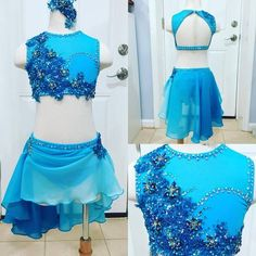 Dance Costumes for sale Blue Costumes, Tap Costumes, Lyrical Costumes, Dance Costumes Lyrical, Girls Dance Costumes, Lyrical Dance, Dance Outfits, Dance Dresses, Latin Dance