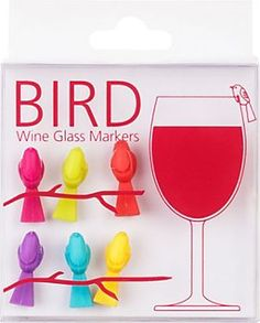 Bird Wine Charms
