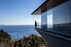 hiroshi sugimoto's enoura observatory in japan frames annual movement of the sun  www.designboom.com