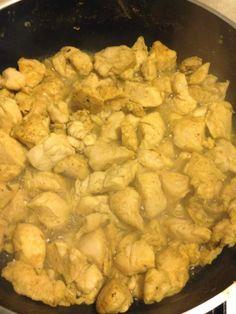 cena light con pollo al curry