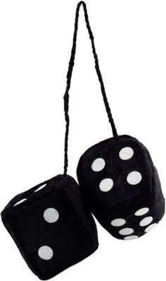 Black Fuzzy Car Dice - http://www.carhits.com/black-fuzzy-car-dice/ - CarHits