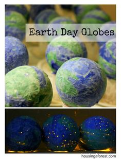 newspaper craft ideas earth globes                                                                                                                                                                                 More
