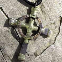 Rustic Cross Pendant / Necklace by bradgoodell on Etsy