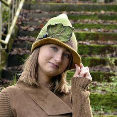 Woodland Felt Hat Pixie felt hat Felt Hats Womens Autumn hat