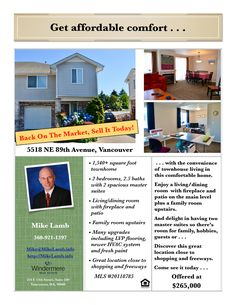 Back On Market! Real Estate for Sale: $265,000-2 Bd/2.1 Ba Upgraded Two Story Summit Springs Townhouse with Two Spacious Master Suites in a Central Location at: 5518 NE 89th Ave, Vancouver, Clark County, WA! Area 21. Listing Broker: Mike Lamb (360) 921-1397, Windermere Stellar, Vancouver, WA! #realestate #vancouverrealestate #SummitSprings #townhouse #twomastersuites #upgraded #centrallocation