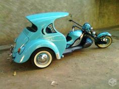 "VW Car Trike ! For more trikes, check out the board ""3-Wheeled"" by Skot Silver"
