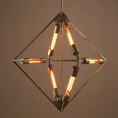 6 Light Mini Chandelier in Square Shaped