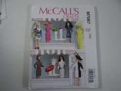 New Uncut FF McCall's 7067 Pattern - Fashion Doll Clothes and Accessories Pattern - Hats - Hat Stands - Table - Belts - Kentucky Derby Hats by SecondWindShop on Etsy