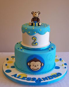Mod Monkey cake by cakespace - Beth (Chantilly Cake Designs), via Flickr