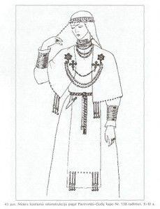 10th -11th century C.E. Late Iron (a.k.a. Viking) Age. Semigallian/Zemgaļu, from northern Lithuania or southern Latvia after Volkaitė-Kulikauskienė, 1997, 52.