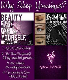 Great news I am now a Younique Presenter. Im super excited to be hosting my very first virtual party online which will endow May 17th. The most popular product we offer is the 3D Fiber Lash Mascara. Our products are naturally based, hypoallergenic, and free of harmful chemicals. Take a look for yourself www.youniqueproducts.com/katelynnmannon