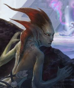 This image is a close up of the Merfolk Observer, its a creature blue card, Merfolk Rogue Magic: the Gathering Merfolk Mythical Creatures Art, Sea Creatures, The Iron King, Mtg Art, Merfolk, Sea Monsters, Mermaid Art, Background Pictures, Fantasy Artwork