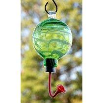 Rainbow Gardman Green/White Swirl Sphere Hummingbird Feeder - JacobsOutdoor