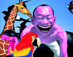 Yue Minjun is one of my favorite contemporary artists; click through for a gallery of some of his work.