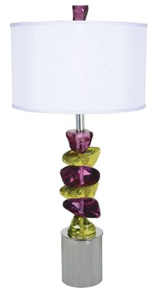 "Rock of Ages, Table Lamp 33"" H."