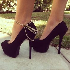 Draped Chains Anklet