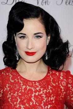 Celebrity inspired wedding makeup: Dita von Teese