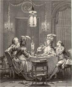 Le Souper fin    1783 Isidore-    Stanislas Helman