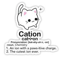 Cation  Sticker