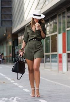 Everyday Shirt Dress Ideas for Utmost Convenience - Find out how you can style your shirt dress for everyday use from home, office, to leisure. Classy Womens Dresses, Casual Dresses, Mode Outfits, Fashion Outfits, Womens Fashion, Cute Summer Outfits, Stylish Outfits, Safari Outfits, Moda Chic