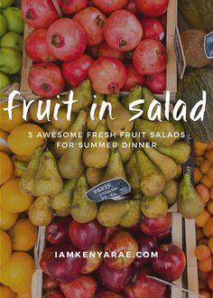 Summer and salad jus