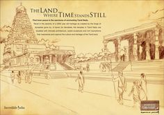 Big Temple T will take your ages by millennium. The travel machine of Tamil Nadu Press Ad, Finding Inner Peace, Time Stood Still, Enchanted, Serenity, Paris Skyline, Temple, Vintage World Maps, Tourism