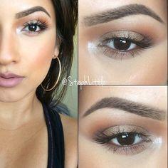 no makeup look, amrezy palette on the eyes, mac lashes, katvond lipstick in lolita