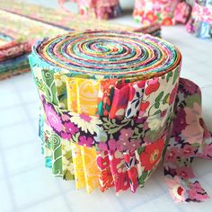 Liberty of London Rainbow Jelly Roll Liberty Of London Fabric, Liberty Fabric, Liberty Quilt, Rainbow Jelly, Hello Kitty Birthday, Quilt Material, Weaving Textiles, Tips & Tricks, English Paper Piecing