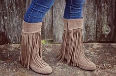 Fringe Suede Boots ~ 3 Colors! | Jane
