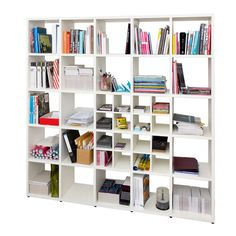 Flötotto - Shelving System 355 (€135) ❤ liked on Polyvore featuring home, furniture, storage & shelves, bookcases, shelves, home decor, shelving unit, book display shelves, shelves bookcases and display shelf