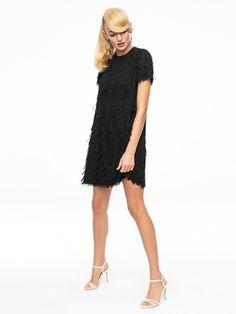 Sukienka z frędzlami 3D AK ETNO 11