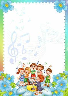 Free Frames And Borders, Borders For Paper, Old Paper Background, Kids Background, Elementary Bulletin Boards, School Border, Boarder Designs, Kindergarten Portfolio, Music Lessons For Kids