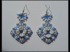 Orecchini Air Flower (Air Flower Earrings) - YouTube Interesting use of flower beads