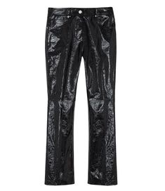 PATENT CROPPED FLARE PANTS