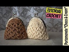 "Discover thousands of images about Tutorial portamonete uncinetto ""Choco & Cream"" Crochet Wallet, Crochet Coin Purse, Crochet Purses, Crochet Bags, Crochet Bag Tutorials, Crochet Videos, Tutorial Crochet, Sewing Tutorials, Coin Purse Pattern"