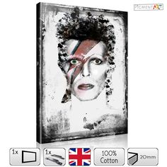 Now available on our store: Ziggy Stardust - .... Check it out here! http://canvaswallartprints.co.uk/products/ziggy-stardust-cel0001?utm_campaign=social_autopilot&utm_source=pin&utm_medium=pin  #pigmentartscreations #canvas #art