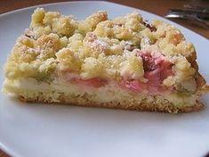 Rhabarberkuchen mit Quarkcreme und Streuseln (Rezept mit Bild)   Chefkoch.de
