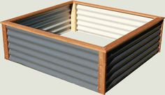 Colorbond Corrugated Iron Raised Garden Bed Flat Pack Kits