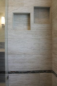 Contemporary Showers shower #tile and #backsplash. #bathroom #ideas | our remodeling