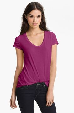 Splendid Scoop Neck Tee available at #Nordstrom